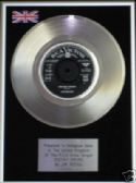 "JIM REEVES  - 7"" Platinum Disc - DISTANT DRUMS"
